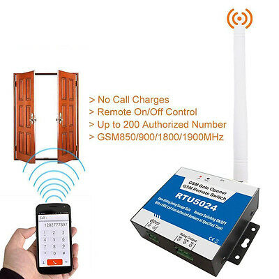 GSM Wireless Door Access Free Call Phone Remote Gate Opener Relay Switch Hot