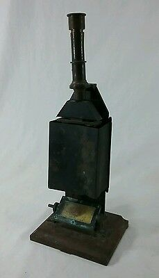 Antique brass colorimetre Paris France color meter labratory equipment pellin