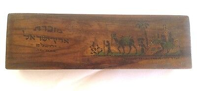 Old Palestine Israel 1930-40 Wood Pencil Case Box Hand Made
