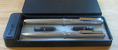 Rotring Brushed Steel Fountain Pen and Ballpoint Pen Set