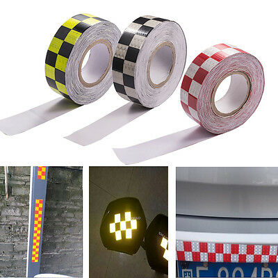 3M Diamond Grade Reflective Chequer Tape Strips Vinyl Stickers HGV Truck Trailer