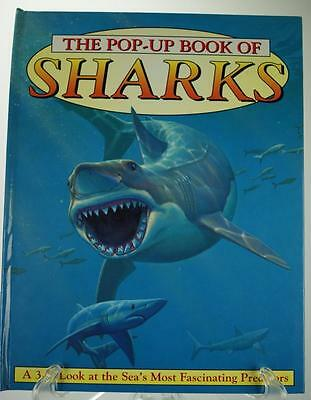 The pop-Up Book of Sharks 1997 Hardcover Book PA258
