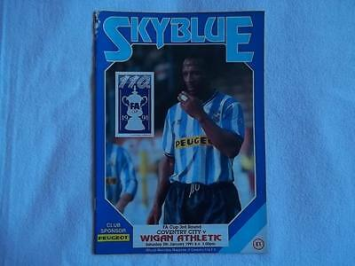 Coventry City v Wigan Athletic 5.1.91 programme