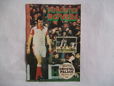 Doncaster Rovers v Crystal Palace 6/10/81 programme