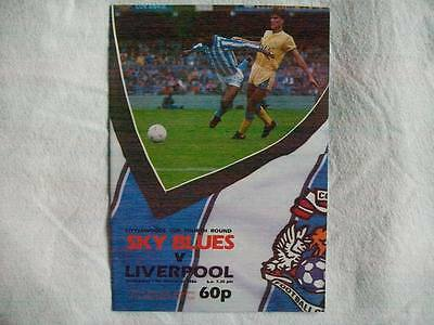 Coventry City v Liverpool 19.11.86 programme