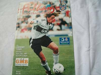 Fulham v Grimsby Town 13.9.97 Programme