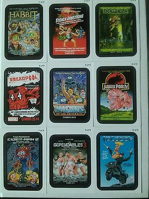 Wacky Packages ANS 11 Coming Distractions 9 Card Set Topps - 2013