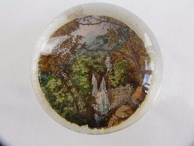 Antique Victorian Souvenir Glass Paperweight - Stock-Ghyll Force Ambleside c1870