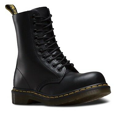 Dr Martens Steel Toe Haircell Boots Black Size 8