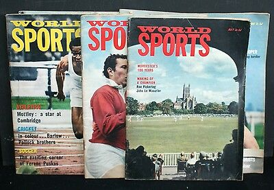 Vintage World Sports Magazines-Seven from 1965 and 1966
