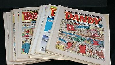 Thirty Three issues of Dandy Comic from 1985 and 1988