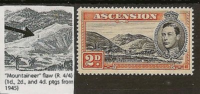 ASCENSION 1938-53 KGVI MOUNTAINEER FLAW SG41ba MNH
