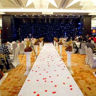 16ftx3ft White Carpet Hollywood Party Decoration Wedding Aisle Floor Runner