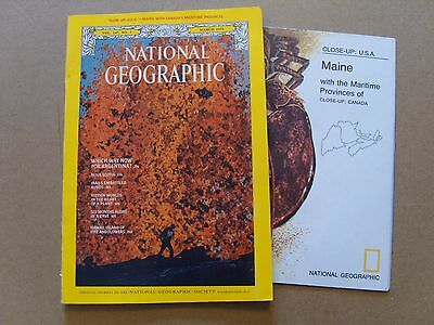 National Geographic Magazine - March 1975 - Close Up Usa - Maine Map Included