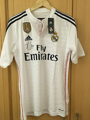 Signed Xabi Alonso Real Madrid Fifa World Champions 2014 Shirt.Private Signing.
