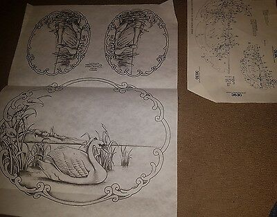 Un-worked vintage Hobbytex 3630 complete with instructions. GRACEFUL SWANS