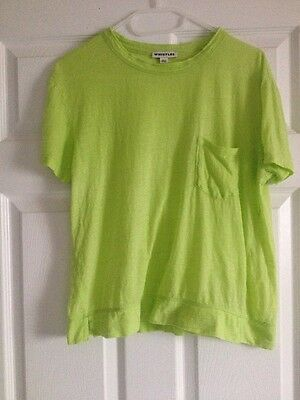 Whistles Linen Pocket Tee / T Shirt / Top In Green Size Small