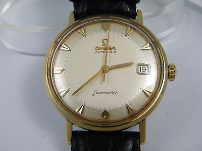 Men's Gold Steel Omega Automatic Seamaster