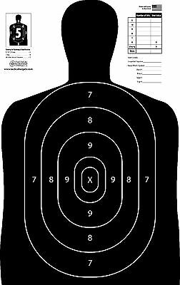 B-27-E Silhouette Paper Targets 100:Qty. 23x35 Law Enforcement Official NRA Size