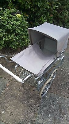Vintage Silver Cross Dolls Pram. With Cover. All Working. Used Condition