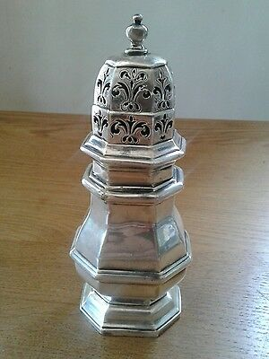 George 1  Antique English Sterling Silver Sugar Caster Shaker
