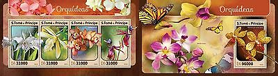 Z08 IMPERFORATED ST16403ab Sao Tome and Principe 2016 Orchids MNH Set