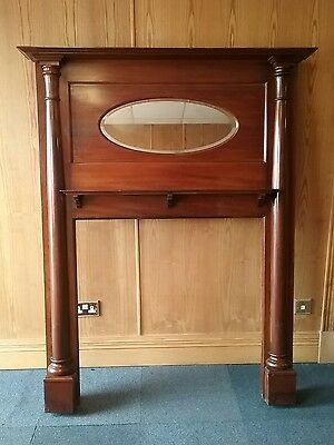 Victorian Edwardian Mahogany Fire Surround Fire Place With mirror