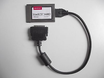 ADAPTEC SlimSCSI 1460D PCMCIA TO FAST SCSI ADAPTOR CARD With HD 50 PIN CABLE