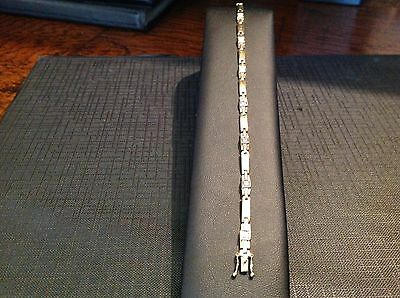 Ladies Gold Diamond Bracelet  9CT HALLMARKED