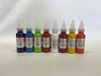Aqueous Tattoo Ink Violet, Blue, Green, Red, Pink, Yellow, Orange 15Ml Bottle
