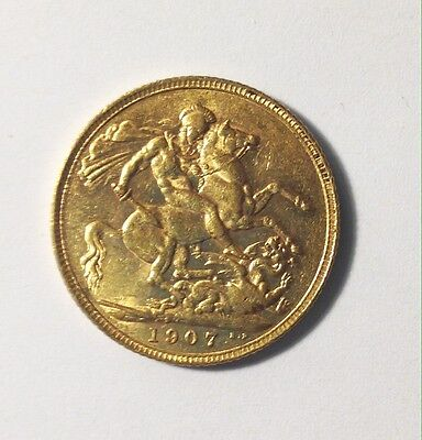1907 Full Gold Sovereign Edward VII