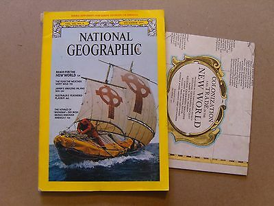 National Geographic Magazine - December 1977 - Usa Colonization Map Included