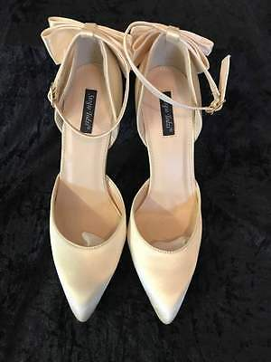Wedding Bridal Shoes ivory size uk 6 brand new & boxed with spare heel