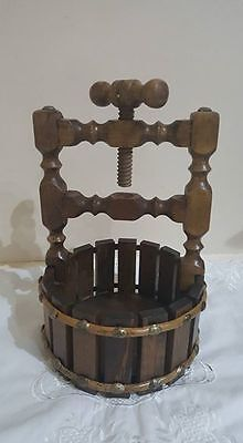 Vintage Wishing Well Nutcracker and Bowl