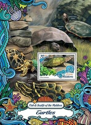 Z08 MLD161002b MALDIVES 2016 Oceans Navy Life Turtles MNH