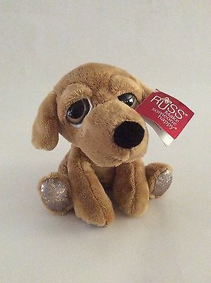 "RUSS BERRIE Lil Peepers brown MAGGIE THE LABRADOR DOG W/ BIG EYES 8"" plush"