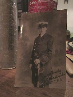 Named WW1 British Naval Officer Photo Postcard  Unresearched