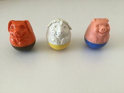 vintage weebles animals 1970's