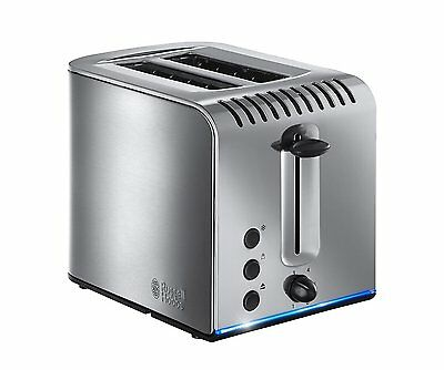 Russell Hobbs Buckingham Brushed Polished Stainless Steel 2-Slice Toaster 20740