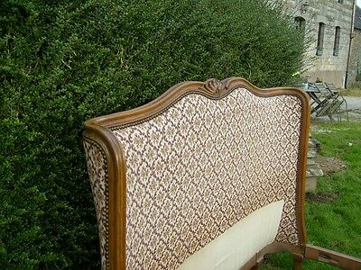 Really Rare!!  Vintage Upholstered French Double  Bed... Full Corbeille ...rare!