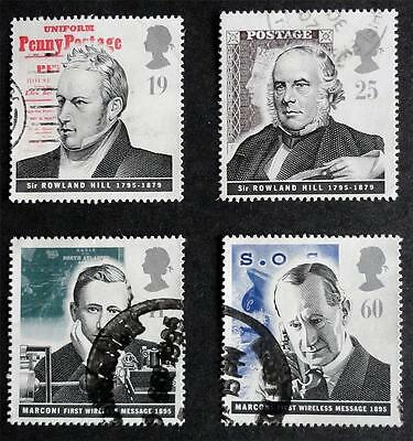 Great Britain 1995 'Pioneers of Communications' SG1887/1890 Used Set