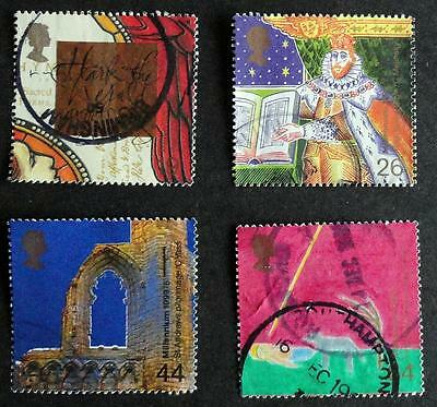 Great Britain 1999 'Millennium Series - The Christians' Tale' SG2115/18 Used Set
