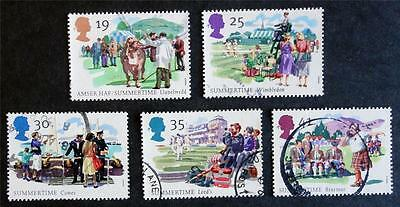 Great Britain 1994 'The Four Seasons - Summertime' SG1834/38 Used Set
