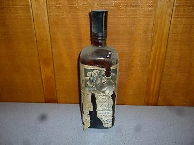 USED Vintage Wright's Condensed Smoke Glass Bottle