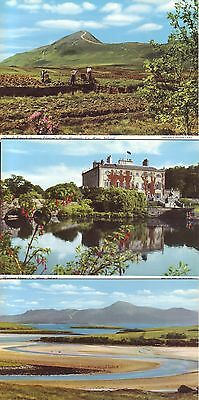 THREE POSTCARDS. COUNTY MAYO, IRELAND. J Hinde Published VGC