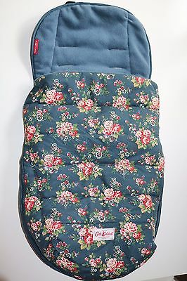 Cath Kidston- Maclaren Cosytoes- Blue Floral Daisy Rose Spray Buggy Footmuff New