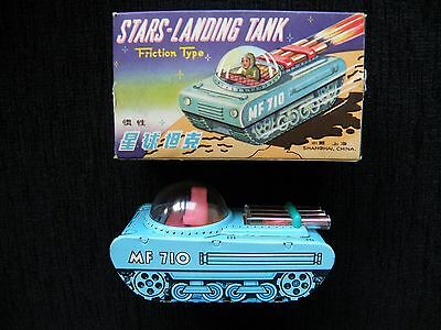 made in China STARS LANDING tank with box tin space toy MF710