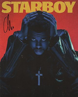 The Weeknd REAL hand SIGNED STARBOY promo photo + CD + PROOF COA RARE #2