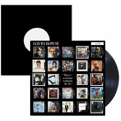 David Bowie-Royal Mail Limited Edition Album Art Fan Sheet 6 Stamps Vinyl-Style