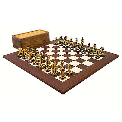 Large Hancock Striped Staunton Luxury Chess Set with 4 inch king RCPB310